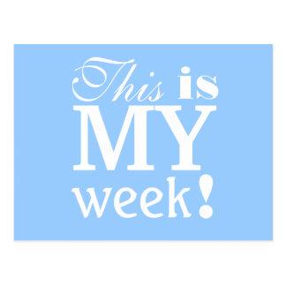Denna är min Motivational vykort för veckan