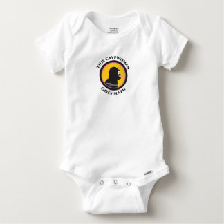 Denna babyGerber bomull smart Cavewoman gör Math T Shirt