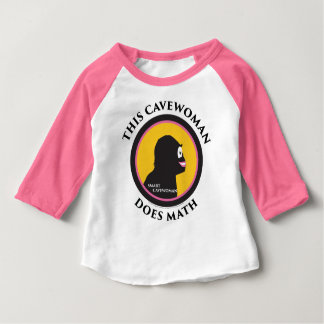 Denna babyRaglanT-tröja smart Cavewoman gör Math Tshirts