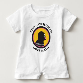 Denna babyromperen smart Cavewoman gör Math T-shirt