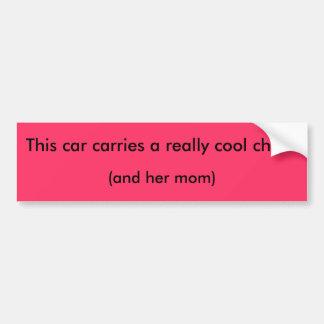 Denna bil bär en verkligencoolachick! , (och henne bildekal