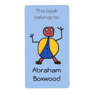 Denna bok hör hemma till anpassningsbarnamnstick fraktsedel