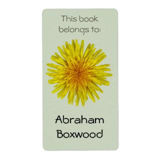 Denna bok hör hemma till maskrosen för fraktsedel
