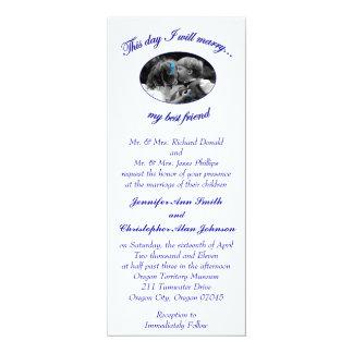 Denna dag ska jag att gifta sig mitt bäst 10,2 x 23,5 cm inbjudningskort