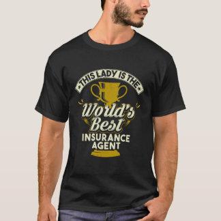 Denna dam är världens den bäst försäkringagenten tröjor
