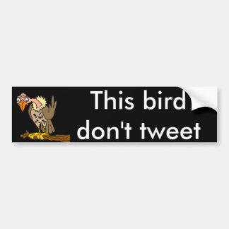 Denna fågel Tweet inte vråktecknaden Bildekal