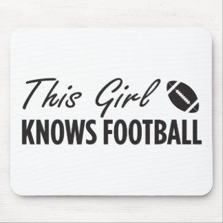 Denna flicka vet fotboll musmatta