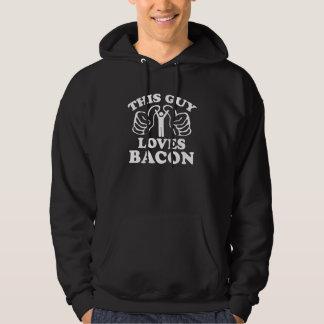Denna grabb älskar bacon tröja med luva
