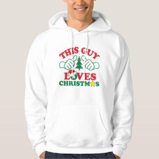 Denna grabb älskar jul sweatshirt med luva