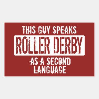 Denna grabb talar rullen Derby Rektangulärt Klistermärke