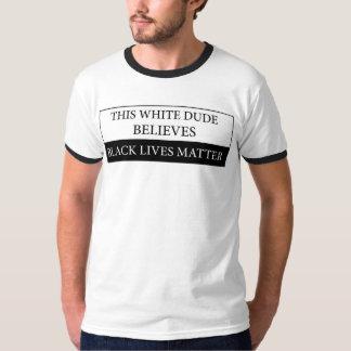 Denna materia för liv för svart för vitdudetro t shirts