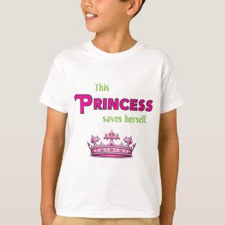 Denna Princess Sparande Hon själv Tee Shirt