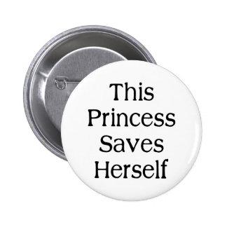 Denna Princess Sparande Knappar Med Nål