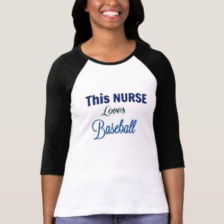 Denna SJUKSKÖTERSKA älskar baseball - kvinna T-shirts