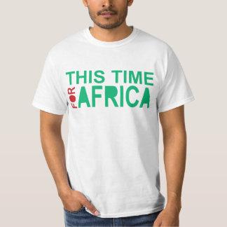 Denna Time för afrikaWaka-waka grönt rött T-shirt
