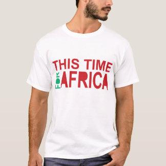 Denna Time för afrikaWaka-waka röda blått T Shirts