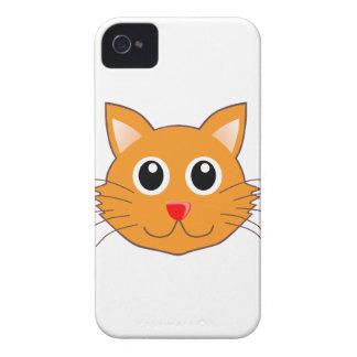 DenNosed orange katten iPhone 4 Case-Mate Fodral