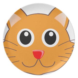 DenNosed orange katten Tallrik