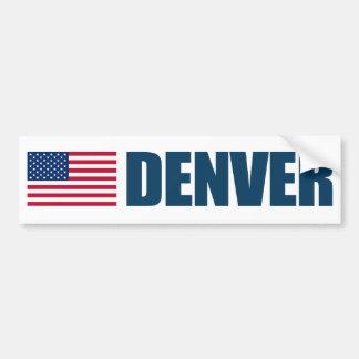 Denver US flagga Bildekal