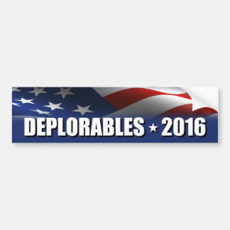 Deplorables 2016 bildekal