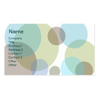 Deppighet bubblar visitkorten set av standard visitkort
