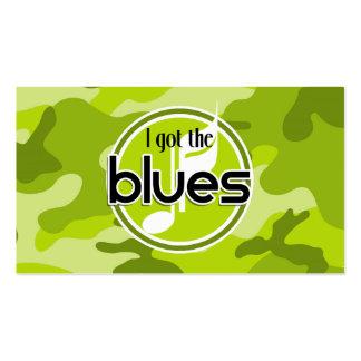 Deppighet; ljust - grön camo, kamouflage set av standard visitkort