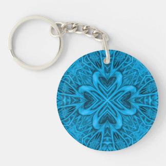 Deppighetakrylen Keychains, 6 stilar Dubbelsidigt Rund Akryl Nyckelring