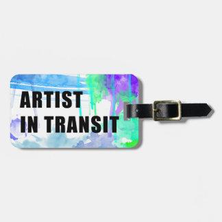 Deppigheter och den lila beställnings- konstnären bagagebricka