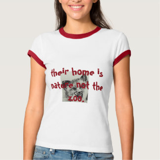 deras hem är naturen inte zooen. frihet tee shirt
