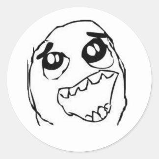 Derp memeklistermärke runt klistermärke