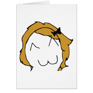 Derpina (Kitteh leende) - hälsningkort Hälsningskort