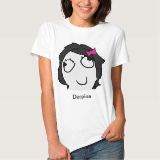 Derpina (svart) Meme skjorta T-shirt
