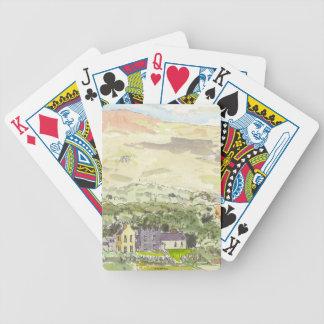 Derrynane hus som leker kort spelkort