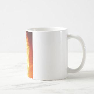 Des för radiell färgBlur konst för glöd för Kaffemugg