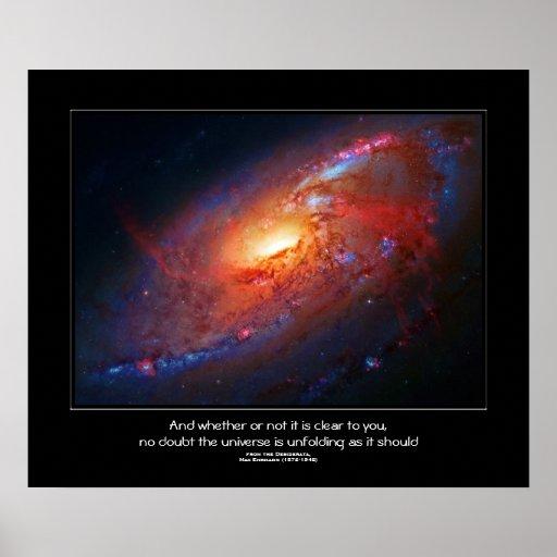 Desiderata citerar - den spiral galaxen, käppar affischer