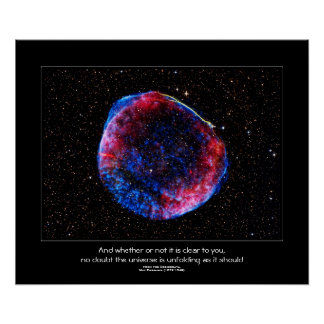 Desideratacitationstecken - ljusast Supernova Poster
