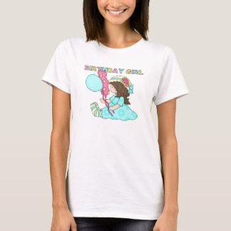 Design 6 för flicka för sittaSuzie födelsedag T Shirts