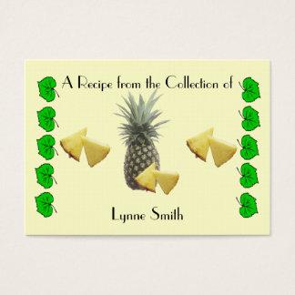 Design för ananas för receptkort (liten) visitkort