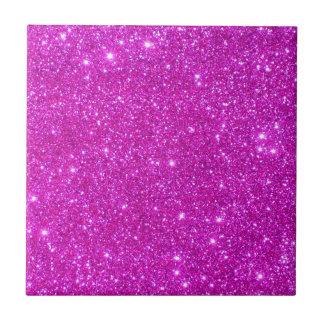 Design för anpassade för rosaglittergnistra liten kakelplatta