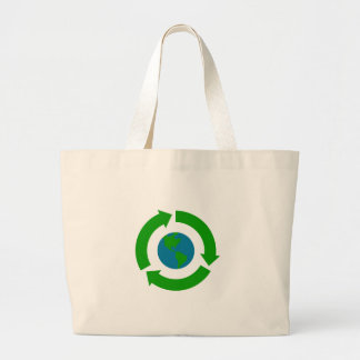 Design för återvinnajordlogotyp tygkassar
