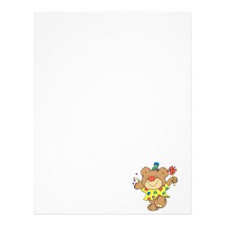 design för björn för partytidclown brevhuvud