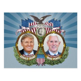 Design för blått för Donald Trump & Mike Vykort