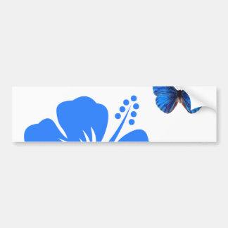 Design för blåttfjärilshibiskus bildekal