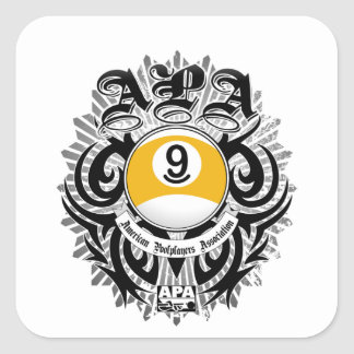 Design för boll för APA 9 gotisk Fyrkantigt Klistermärke