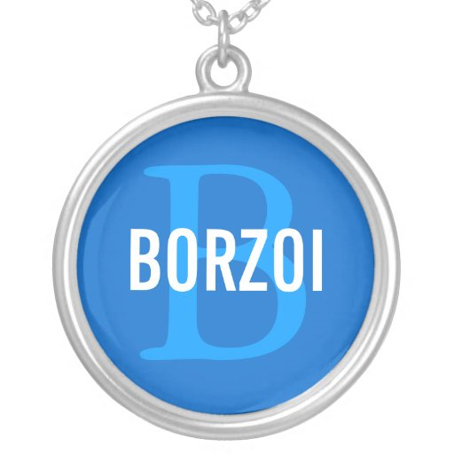Design för BorzoiavelMonogram Smycken