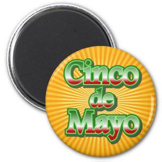 Design för Cinco de Mayo Mexico maj 5 Magnet