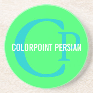 Design för Colorpoint perserkattMonogram Underlägg