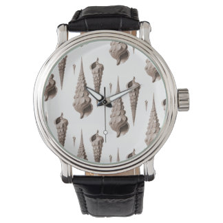 Design för dekor för snäckorBeachcomber kust- Armbandsur