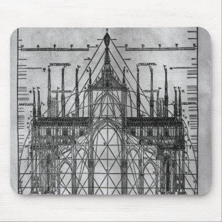 Design för den Milan domkyrkan Mus Matta
