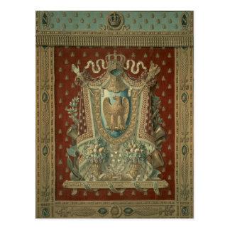Design för en tapestry i Bonapartes studie Vykort